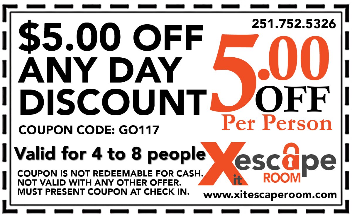 escape room coupons